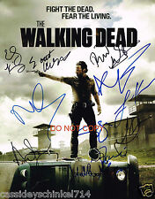 "The Walking Dead AMC TV Show Reprint Signed 8x10"" Cast Photo #1 RP"