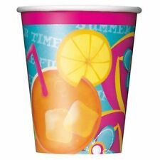 Pool Party 8 9 oz Hot Cold Paper Cups Beach Ball Splash Summer Fun