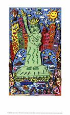 James RIZZI THE BIG APPLE IS BIG ON LIBERTY POSTER PLAKAT 8 auf Platte gezogen