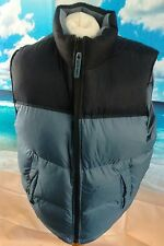 Old Navy™ blue padded Feather & Down gilet **22w 27l small*** check front