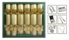 6 Hand Made Damask Crackers Gold Ultimate in Luxury Christmas Crackers