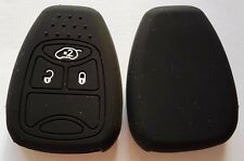 BLACK SILICONE CAR KEY COVER for JEEP DODGE CHRYSLER COMPASS CALIBER DURANGO RAM
