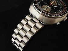 Men's Solid Link BRACELET for SEIKO 6138 UFO Yachtsman Chronograph + Slide Rule