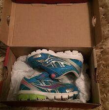 Saucony Ride 6 Toddler Sneaker Size 4 Blue/Pink/Green