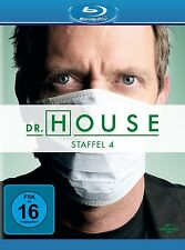 DR.HOUSE SEASON 4  Hugh Laurie, Lisa Edelstein 4 BLU-RAY NEU