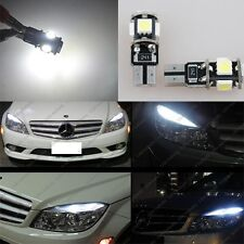Mercedes 6000K White W204 C300 C350 C63 AMG LED 5-SMD Eyelid Light Bulbs 4Pcs