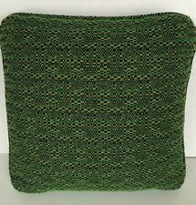 Vintage Mid-Century Sofa Pillow Nubbly Green Square