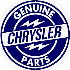 Genuine Chrysler Service Station Parts Sign