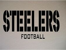 Pittsburgh Steelers Football Team NFL Vinyl Wall Art Removable Decal Sticker