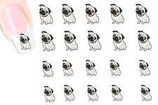 MOPS PUG NAGEL Stickers NAIL STICKERS DECALS-NAIL TATTOO- wasserlöslich MC1