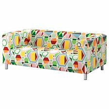 Ikea Cover for Klippan 2 seat Loveseat Couch Sofa, Glottra multicolor New