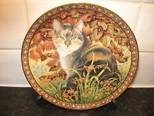 THE FOUR SEASONS CAT PLATE  - LYNFASCAT IN AUTUMN  - DANBURY MINT