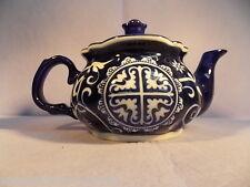 BOMBAY CO-PITCHER-TEA POT-BLUE &WHITE- FLORAL DESIGN