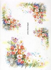 Rice Paper for Decoupage Decopatch Scrapbook Craft Sheet Painted Flower