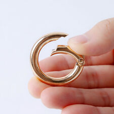 25pcs New Wholesale Gold Plated Alloy Round Keyring Keychain Safety Clasp 35mm L