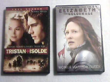 ELIZABETH THE GOLDEN AGE BRAND NEW & TRISTAN AND ISOLDE DVD LOT OF 2 MOVIES