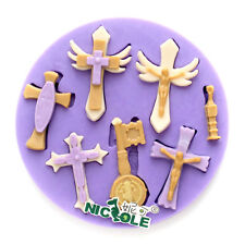 Jesus Cross Silicone Fondant Mold Cake Decorating DIY Chocolate Candy Craft Clay