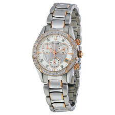Bulova Diamond Chronograph White Dial Stainless Steel Ladies Watch 98R149