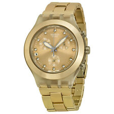 Swatch Full-Blooded Chronograph Beige Aluminum Ladies Watch SVCK4047AG