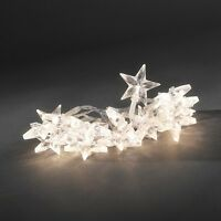Warm White LED Battery Operated Christmas Light Set with Star Decorations