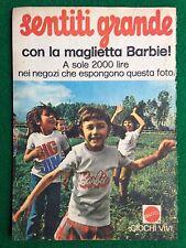 VV98 Pubblicità Advertising Clipping 19x13 cm (70s) BARBIE MAGLIETTA MATTEL