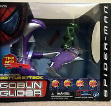 Marvel Spiderman electronic Battle Attack Green Goblin glider rare