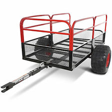 "Titan 60"" x 31"" Steel ATV Utility Trailer 1,250 lb Capacity Pin Hitch 18"" Tires"