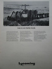 8/1974 PUB AVCO LYCOMING T53 GAS TURBINE BELL IROQUOIS ARMY HELICOPTER AD
