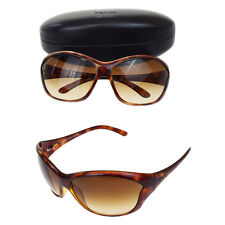 Authentic PRADA Logos Sunglasses Eye Wear Brown Plastic Made In Italy 08P373