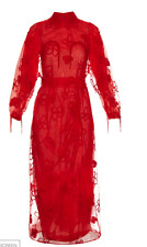 "SIMONE ROCHA ""SPOOKY"" FLORAL EMBROIDERED DRESS SZ UK 10 US 8 FR 38 $3995"