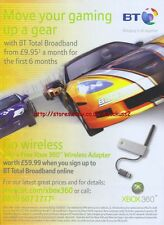 "BT Broadband ""Xbox 360"" 2007 Magazine Advert #4937"