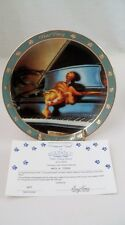 Danbury Mint Collector Plate Garfield Dear Diary I Composed Myself Piano Pianist