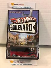 '85 Chevy Astro Van * Black/Red * Boulevard Hot Wheels w/ Real Riders *K20
