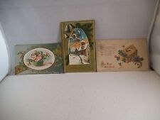 Vintage Lot of 3 Postcards New Years Eve Greetings