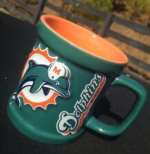 NFL Miami Dolphins 11oz. Coffee Mug Cup Football Green/Orange NFC AFC EXC++++