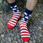 Unisex American USA Star Casual Flag Stripes Old Glory Fashion Dress Crew Socks