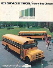 1972 Chevrolet School Bus Brochure wd9923-FEWXMO
