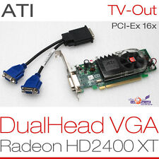 256 MB ATI RADEON  HD2400 XT PCIe DUALHEAD 2x VGA GRAFIKKARTE WINDOWS XP 7 8 G13