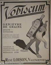 PUBLICITÉ 1909 VOBISCUM GENIÈVRE DE GRAINS - RENÉ LOISON - ADVERTISING
