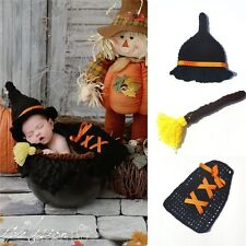Newborn Infant Harry Potter Costumes Pumpkin Black Knitted Hat Halloween Movies