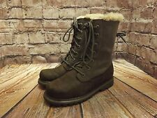 Ladies Caterpillar Mink Suede & Leather Lace Up Low Heel Ankle Boots UK 4 EU 37