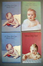 Unused 4 Congratulations New Baby  vintage greeting card  *AA