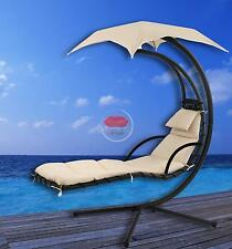Outdoor Luxury Floating Lounger With Shade - Cream - hanging egg chair hammock