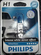 PHILIPS H1 WHITEVISION INTENSE WHITE XENON EFFECT SINGLE UPGRADE BULB 4300K