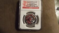 2012P Australia Silver 50 Cent Colorized YEAR OF THE DRAGON NGC PF69 UC