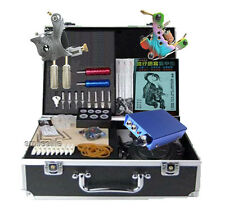 Supply Tattoo kit 2 machine blue mini tatoo power supply tattooing complete set
