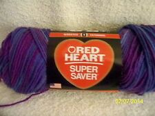 Red Heart Super Saver Purple GRAPE FIZZ  5 oz 100% Acrylic Worst Wt #4 SDL