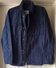 Mens Navy 4 Pockets Long Sleeve Jacket by Old Navy size XL, L