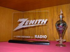 ZENITH ETCHED GLASS VINTAGE RADIO SIGN
