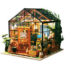 DIY Wooden Flower House 3D Mini Dollhouse With Furniture Kit Light Creative Gift